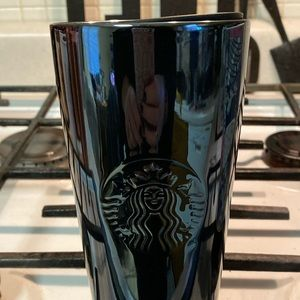 Starbucks High Gloss Black Tumbler Coffee Mug